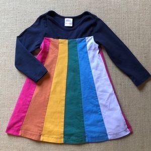 EUC Hanna Andersson rainbow panel dress